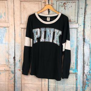 Victoria's Secret Pink Bling Tee L/XL
